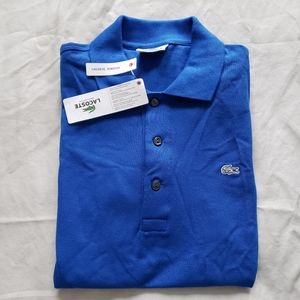 Lacoste Stretch Fit Blue Polo Shirt